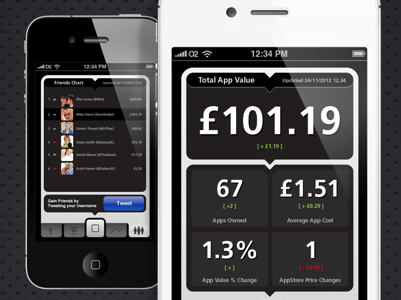 App Comare Concept UI / UX App Design for iOS, Created by Mike Hince, UI/UX Designer Solihull, Birmingham, West Midlands