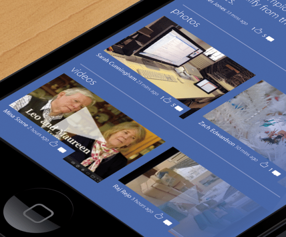 Facebook GO UI / UX App Design for iOS & Android, Created by Mike Hince, UI/UX Designer Solihull, Birmingham, West Midlands
