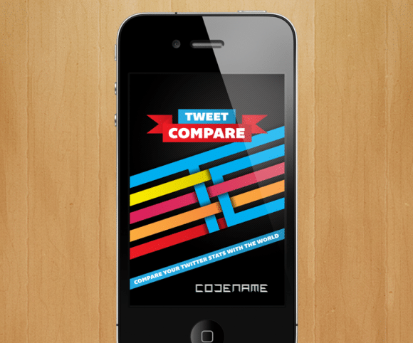 TweetCompare UI / UX App Design for iOS & Android, Created by Mike Hince, UI/UX Designer Solihull, Birmingham, West Midlands