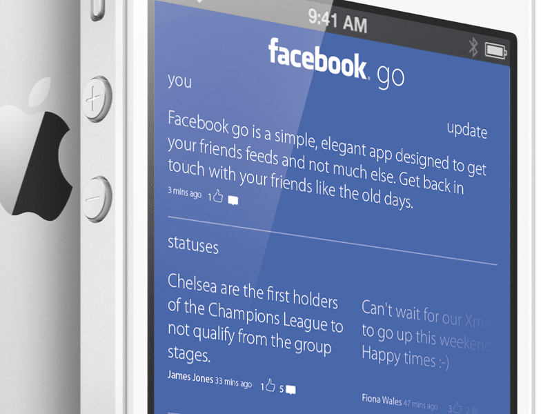 facebook mobile design concept