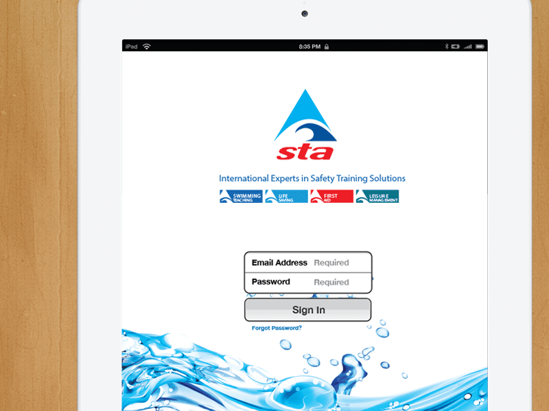 STA UI / UX App Design for iOS / iPad, Created by Mike Hince, UI/UX Designer Solihull, Birmingham, West Midlands