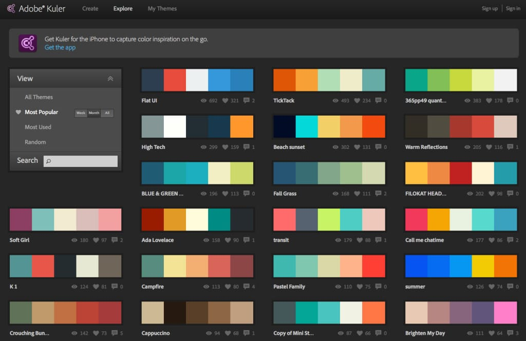 Adobe Kuler UI Colour Resource