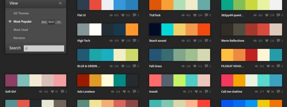 Adobe Kuler UI Colour Resource