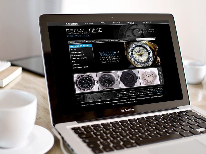 Regal Time UI / UX Website Design, Created by Mike Hince, UI/UX Designer Solihull, Birmingham, West Midlands