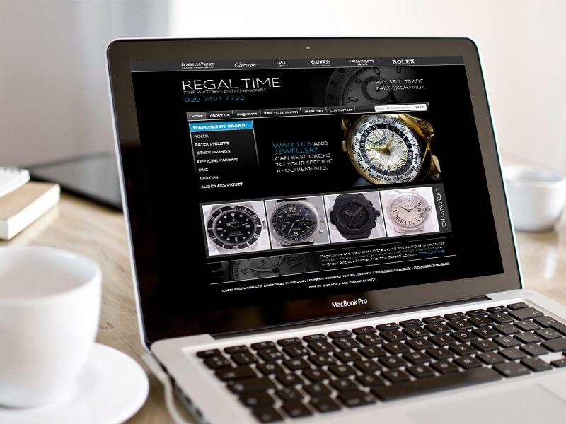 Regal Time UI / UX Website Design, Created by Mike Hince, UI/UX Designer Solihull, Birmingham, West Midlands