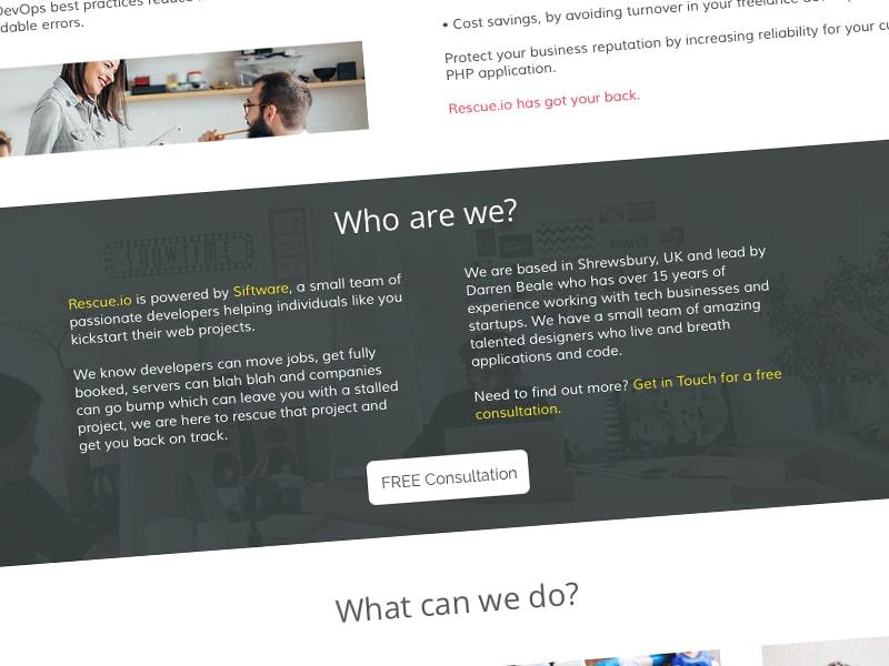 Company info ui design