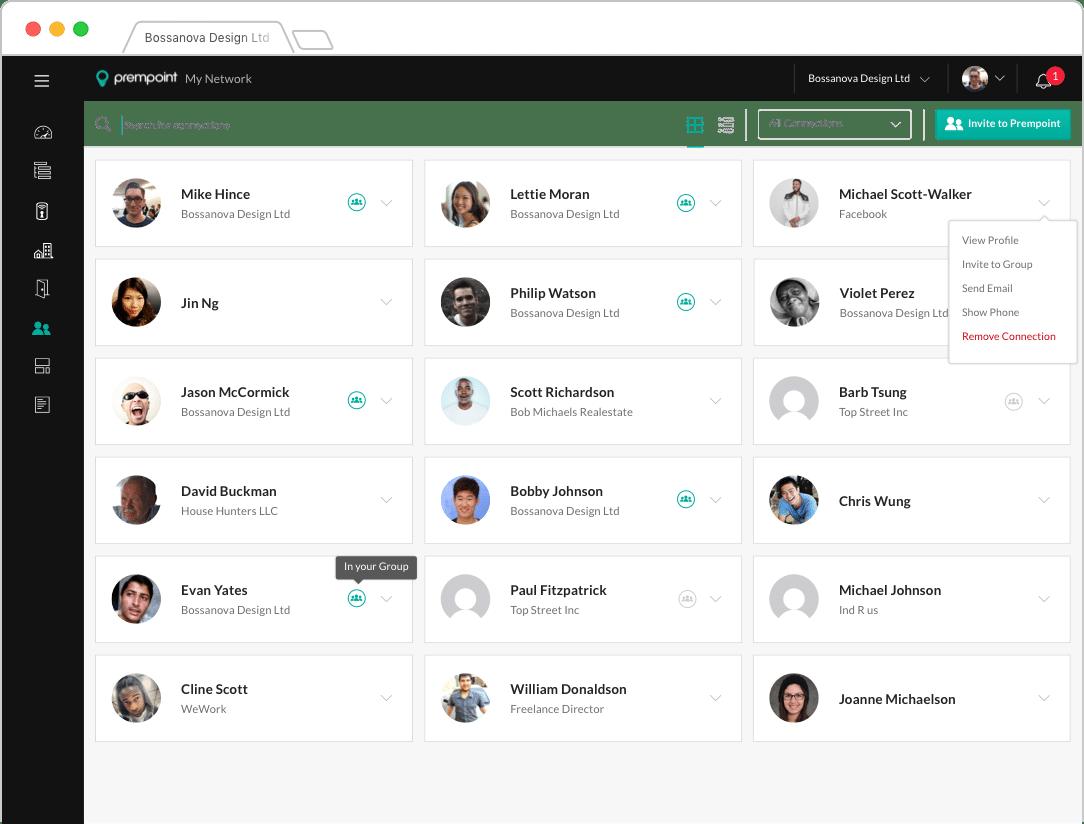 Contacts UI Design