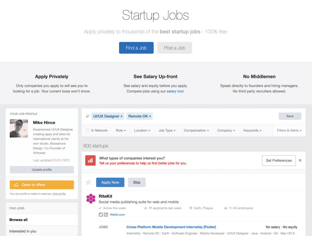 Angel.co Jobs