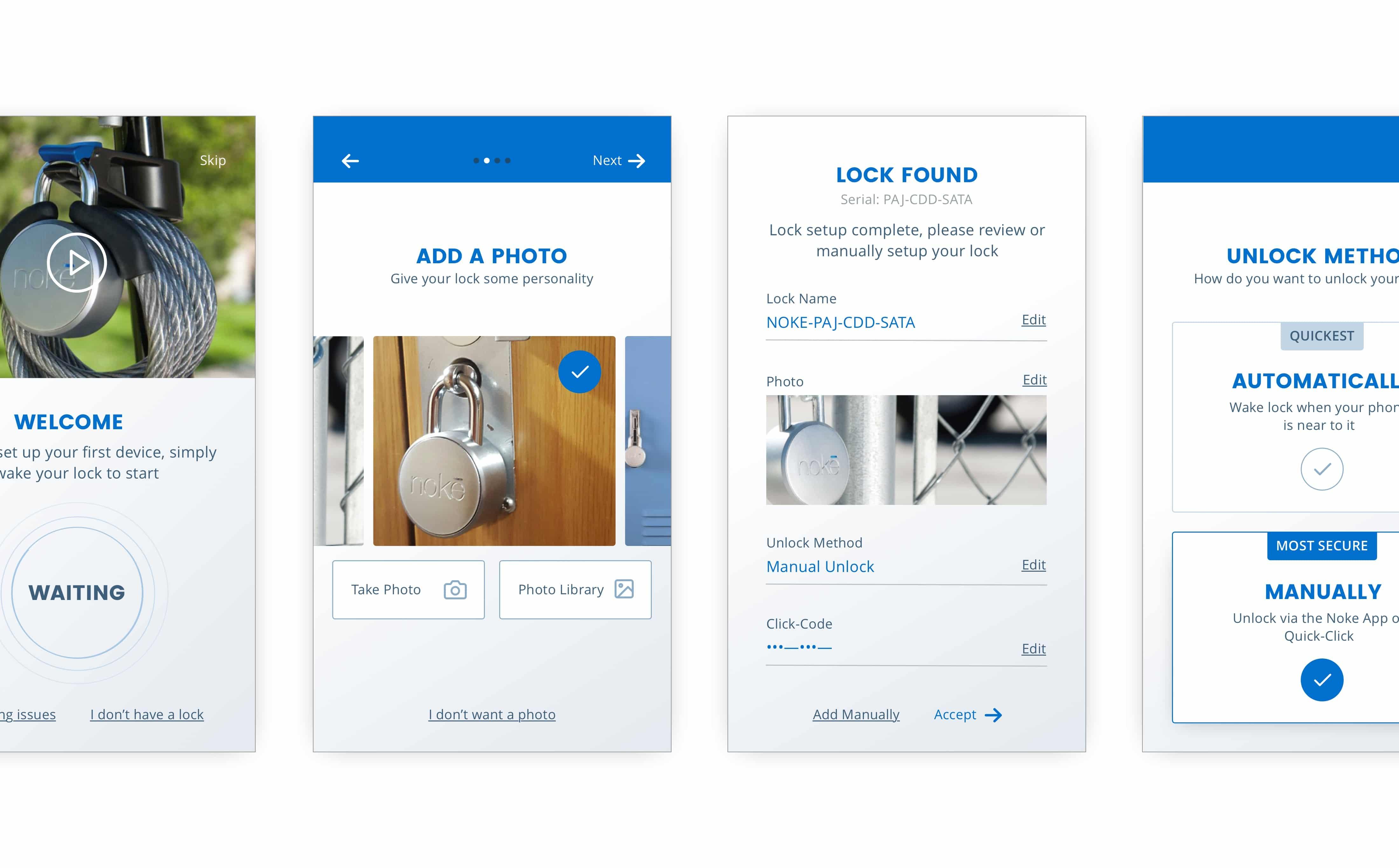 Nokē iOS & Web App UI Design | Portfolio | Mike Hince