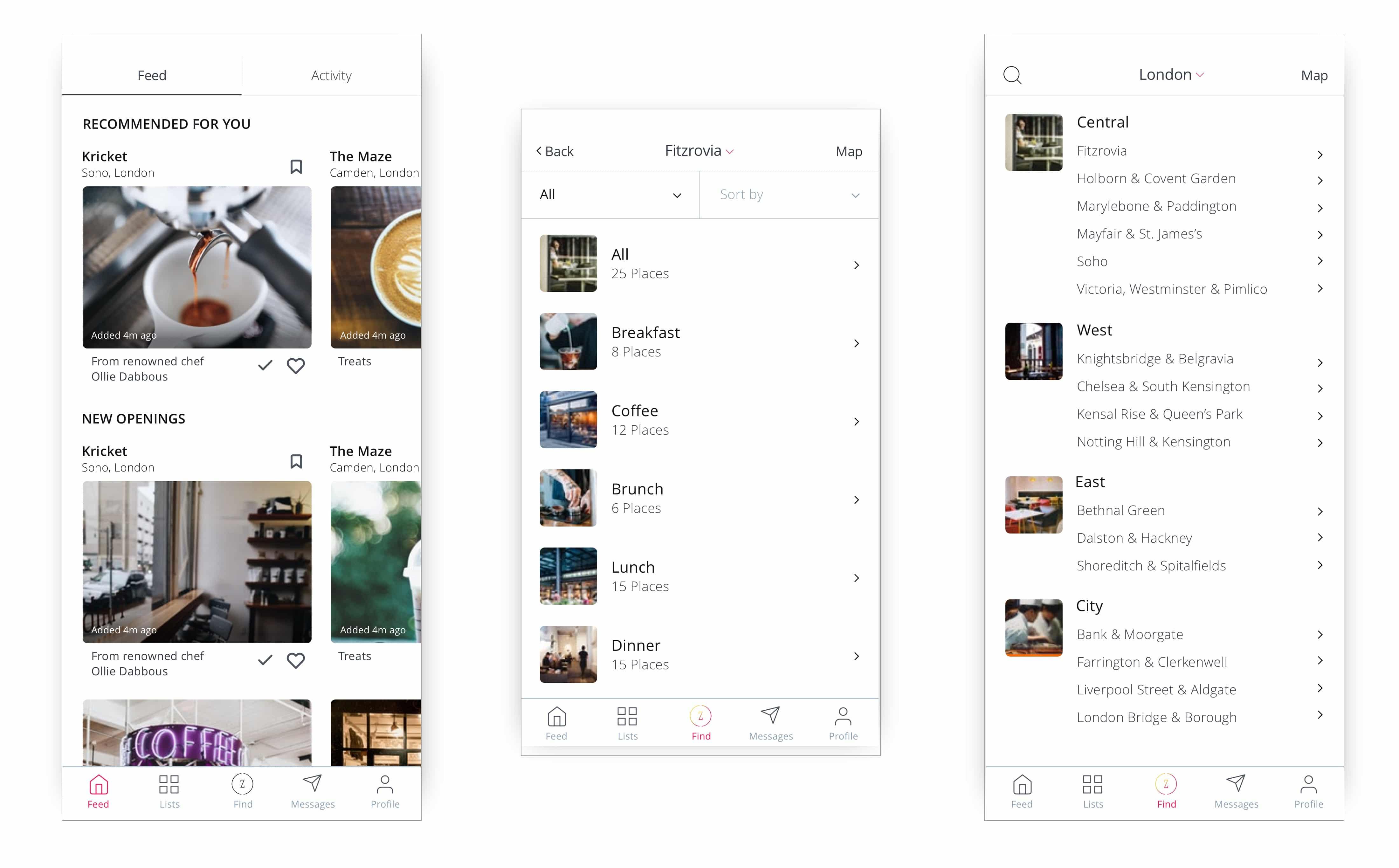 OneZone UI Design